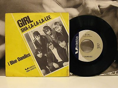 "I Blue Dandies  Girl / Sha-La-La-La-Lee 45 Giri 7"" Italian Beat Vedette Vrn34072"