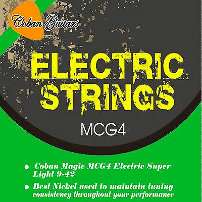 Coban Guitars MCG4 Electric Super Light 9-42 Best Nickel Strings Total 6 Strings