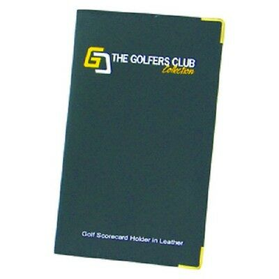 New Golfers Club Leather golf scorecard holder with metal corners