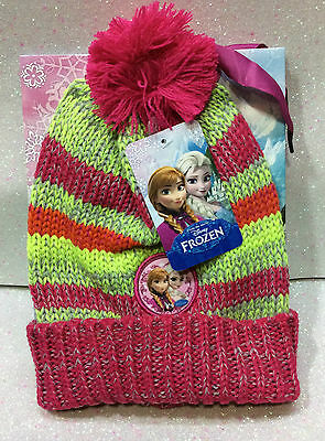 Disney Frozen Elsa Anna Cappello Con Stampa + Busta Regalo Hat With Stamp + Pack