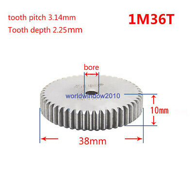 1Mod 36T Spur Gears 45 Steel Gears  Tooth Diameter 38MM Thickness 10MM
