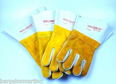 New-Welding-Gloves-Weldrite-by-Jomac-Leather-Tig-Mig-Arc-Welder-Wells-Lamont-In