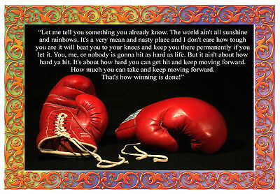 -A3- Rocky Boxing INSPIRATIONAL MOTIVATIONAL QUOTE POSTER PRINT #33