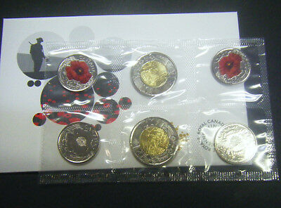 2015 Canada Remembrance Coin Pack In Flanders Fields and Poppy Toonie Quarter