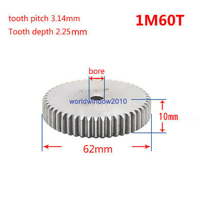 1 Mod 60T Spur Gears 45 Steel Gears  Tooth Diameter 62MM Thickness 10MM