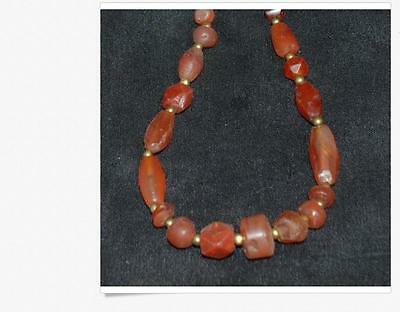 Beautiful Ancient Carnelian Bead Necklace 3000 BC -500 AD 24""