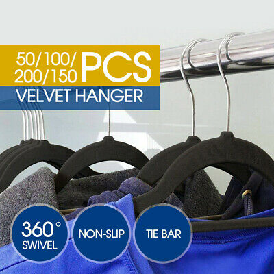 Coat Hangers Flocked Velvet Nonslip Coat Clothes Closet Slim Thin 50-200