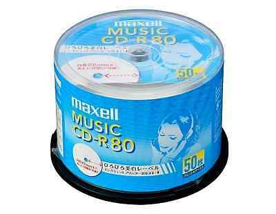 50 Maxell JAPAN Blank CD-R for Audio Music CDR 80min White Label CDRA80WP.50SP