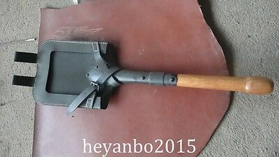 Wwii Ww2 German Flat Shovel & Carrier Set