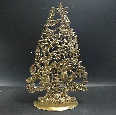 Brass Christmas Tree with candle holder