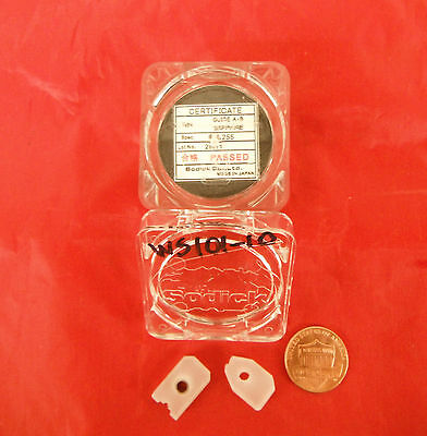 """Sodick Edm Sapphire Upper & Lower Wire Guide Set .010"""" .26Mm 3080629 Ws101-10"""