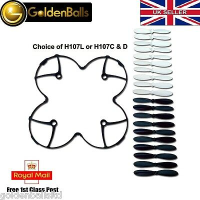 Hubsan X4 Blade Guard Cover Protector + 5 Sets Propellers H107C H107D H107L Uk