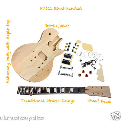 L.PAUL x 7 types, ST HY & Bass for Student & Luthier Electric DIY Guitar Kits
