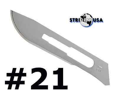 100 Scalpel blades ** #21 **  for surgical dental medical veterinary blades