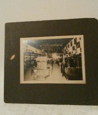 """Vintage 7"""" X 5"""" Photo Inside Appliance Store Early 1900s"""