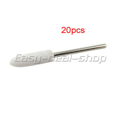20Pcs Dental Composite Polishing Finishing Mounted Stones RA Conical #13 EDS