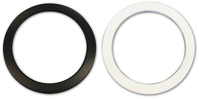 "CODE Kick Port Bass Drum Head Hole Reinforcer Black/White/4""/5"" // Free Shipping"