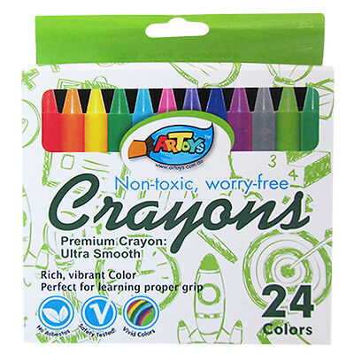 2 Pack of 24 Color Premium Crayon Ultra Smooth Non-toxic Great for Kids Drawing