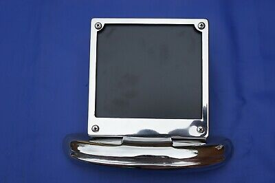 Chrome Number Plate Holder  Surround + Solid Rear Bumper Li GP SX TV Vespa