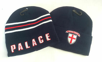 b9cd36c1e08 Mens Adults Crystal Palace Football Woolly Hat Navy Acrylic Polyester One  Size