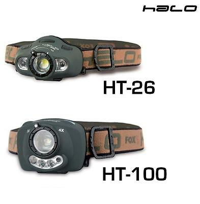 Fox Carp Fishing Halo Focus Headtorches / Head Torch - HT26 & HT100 Available