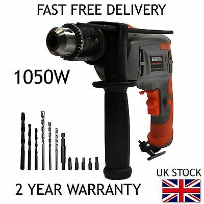 Terratek 1050W Electric Hammer Drill, Corded Drill, Electric Drill, Power Drill