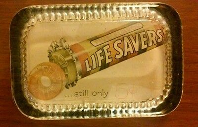 """Vintage """"life Savers, Lucite Handmade Paperweight"""