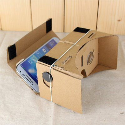 New ULTRA CLEAR Google Cardboard Virtual Reality VR 3D Glasses for Android US