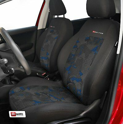 2 X CAR SEAT COVERS  pair for front seats fit  Peugeot  206  charcoal/blue
