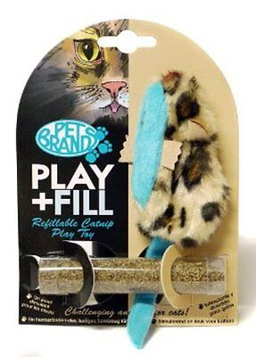 Pet Brands Play And Fill Mouse Cat Nip Mouse Toy With Tube Of Catnip