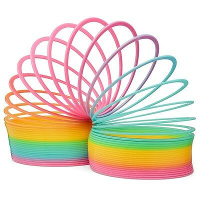 Giant Rainbow Springy Novelty Retro Toy Slinky Fun