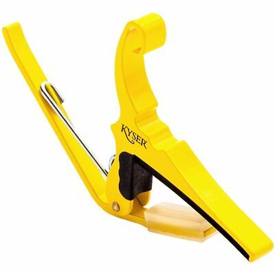 New Kyser Kg6Y Yellow Blaze Quick Change 6-String Guitar Capo + Free Shipping