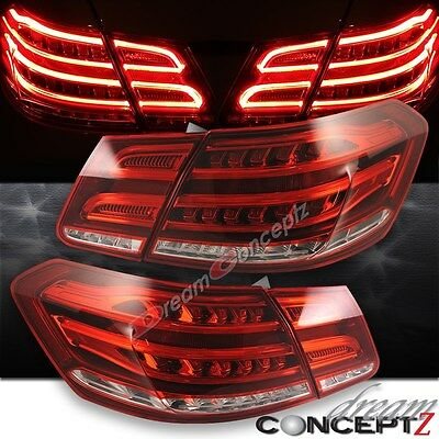2010-2013 Mercedes Benz E-Class W212 sedan LED Tail Lights 4 Pcs Red Clear Lens