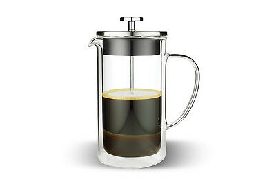 Tramontina 3 Cup Double Wall Glass Coffee Plunger