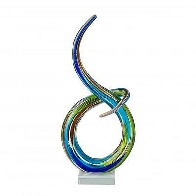 Coloured glass & Art Glass Multi coloured Sculpture Knot