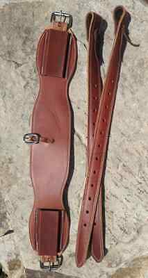 Harness Leather Hand-Made Leather Saddle Back Cinch Bucking Stra. Horse Tack