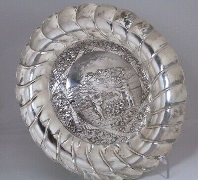 Antique Sterling Silver Tray Nude Figural and Unusual Shape Tray