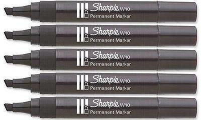 Sharpie Chisel Pen Permanent Marker Black Ink W10 Durable 1,2,3,4,5,6,8,10,12