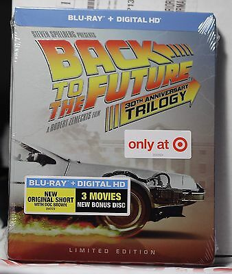 New Back 2 The Future Trilogy Blu-Ray+Hd Ultraviolet Steelbook! Target Ex Sealed