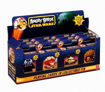 Star Wars Angry Birds Playing Cards In Metal Tin! Collect All 4! New Sealed!
