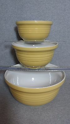 New Set of 3 Large Stoneware Bowls Made in Portugal