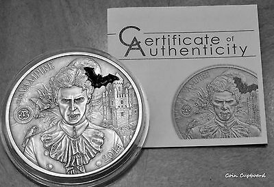 "2014 - Palau - Mythical Creatures ""Vampire"" 2 oz silver coin"