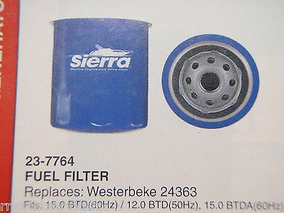Westerbeke Generator Sierra 23-7764 Fuel Filter 24363 Boatingmall Ebay Parts