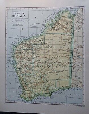 1907 Western Australia Great Victoria Desert Gibsons Dodd, Mead Co. Colorful Map