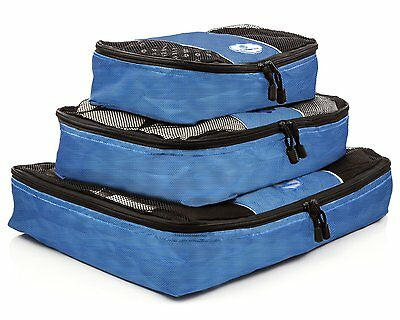 NEW House of Browse Packing Cubes 3pc Value Set Travel Organizer for Easy Travel