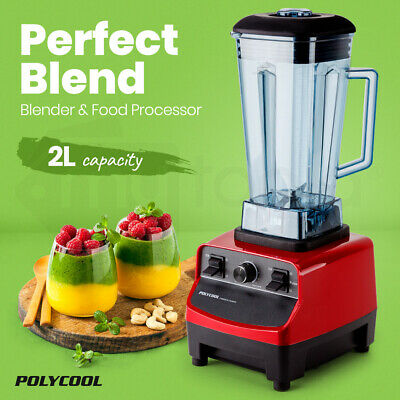 NEW POLYCOOL Commercial Blender Mixer Juicer Food Processor Smoothie Ice Crush