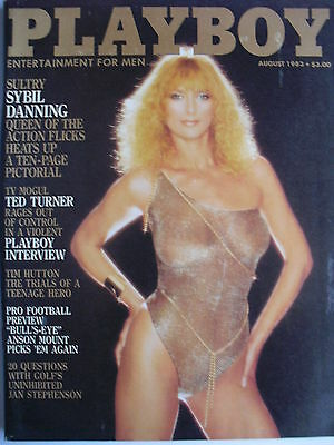 SYBIL DANNING - 10 PAGES Inside August 1983 PLAYBOY   ANSON MOUNT    TED TURNER