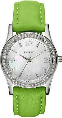 DKNY    ANALOG White Watch  NY8383 Genuine Leather Stripe