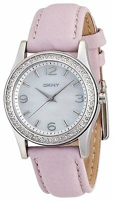 DKNY    ANALOG White Watch  NY8379 Genuine Leather Stripe