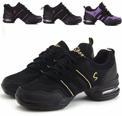 Fashion Women Sneakers Lace Up Comfy Modern Jazz Hip Hop Dance Shoes Breathable